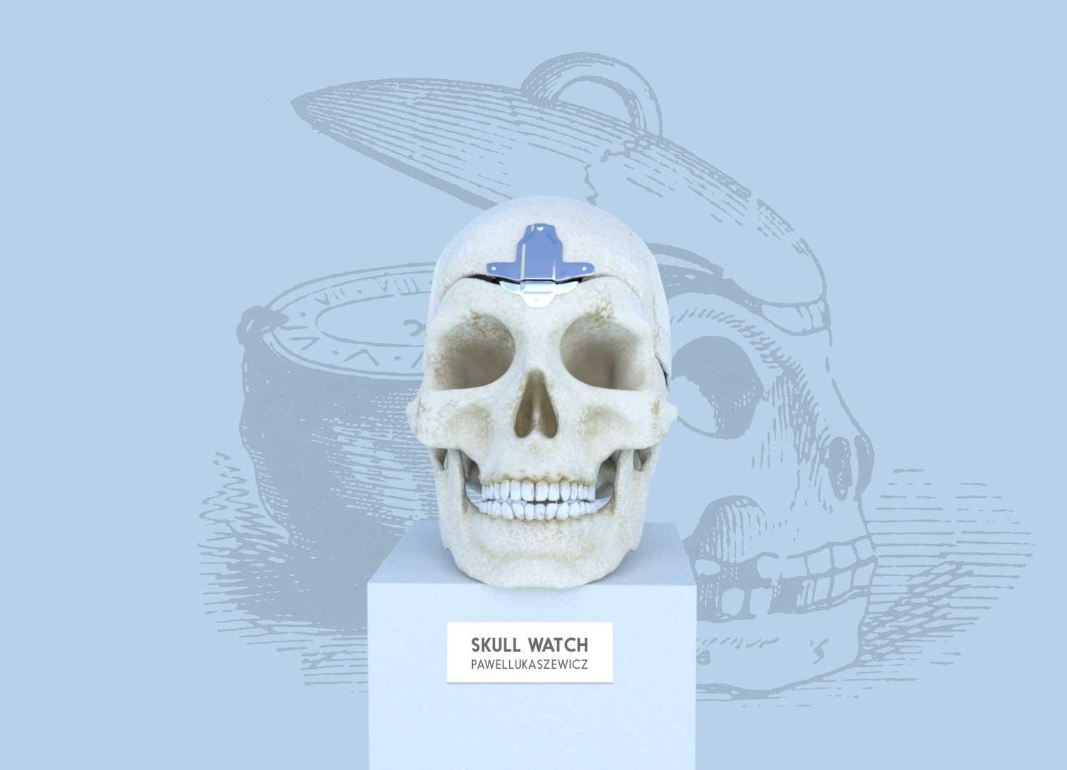 Skull watch (ZBrush, Maya,Iray)